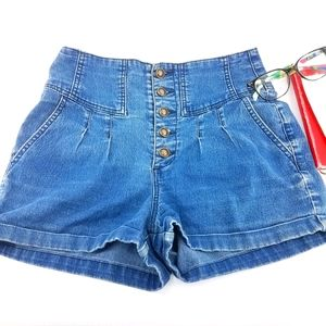Pins & Needles High-Rise Button-Up Shorts Size 27